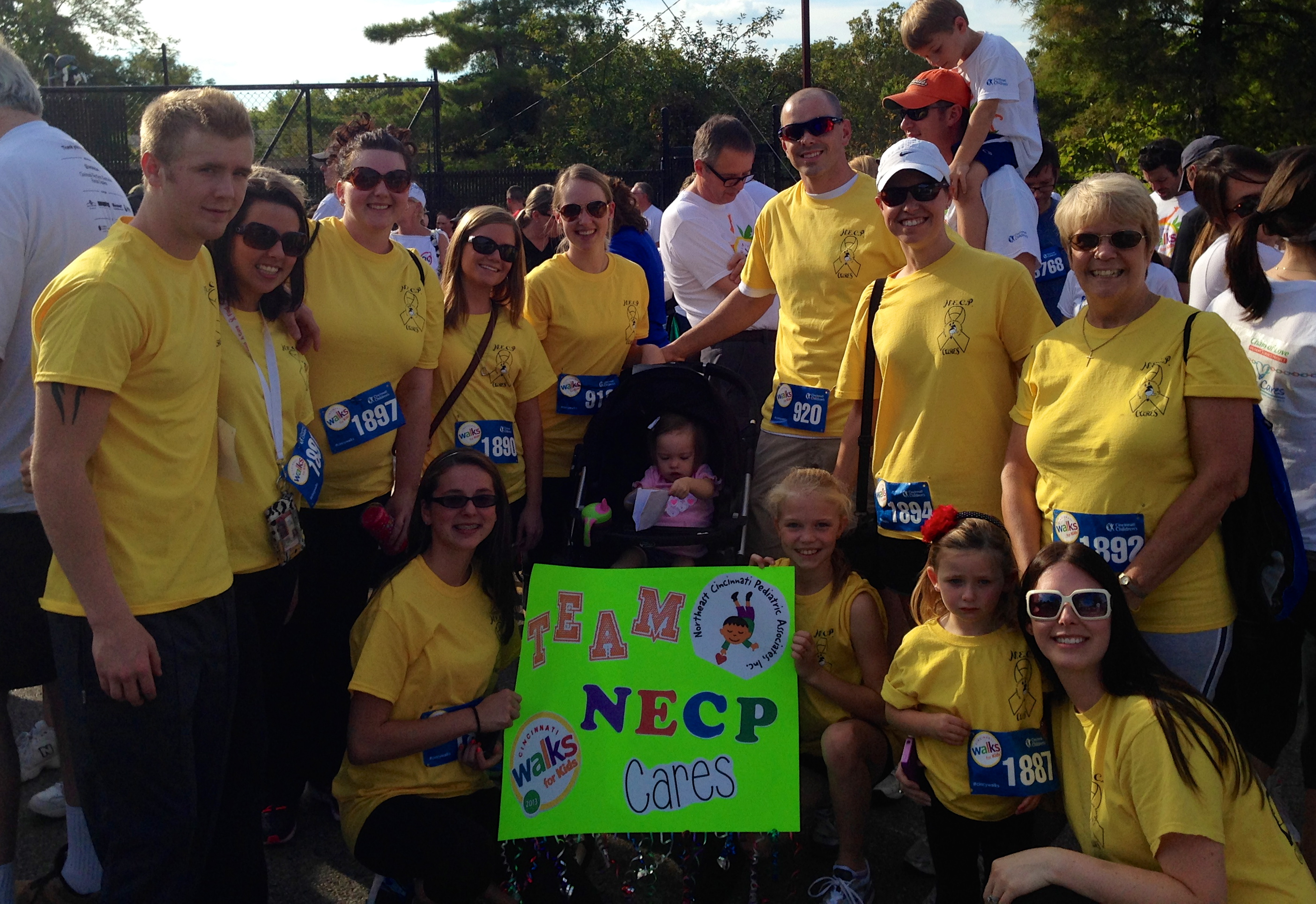 Team NECP CARES walks for kids
